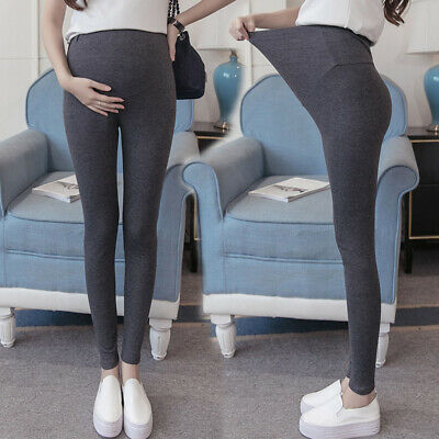 Pregnant Women High Waist Leggings Pregnancy Yoga Pants Maternity Pants E