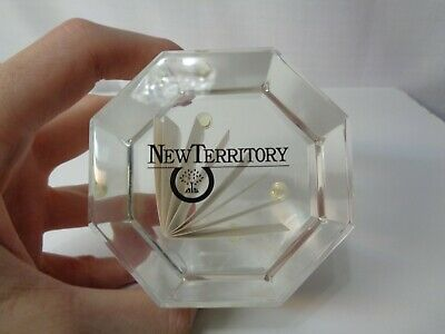 1991 New Territory Fort Bend County Sugar Land Texas Lucite Paperweight