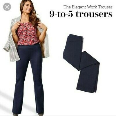 CAbi Womens Size 10 Classic Navy Blue 9 To 5 Style Trouser Pants Stretch #5312