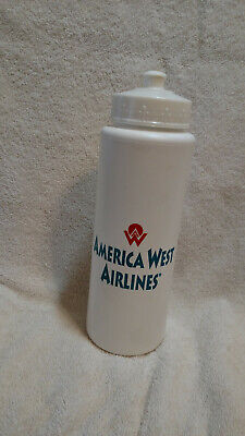 America West Airlines White Water Bottle  Vintage Excellent Condition