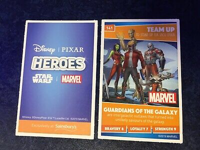 Sainsburys Card Number 141 Guardians of the GalaxyDisney Heroes 2019