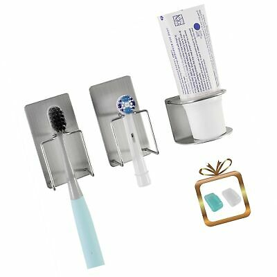wanyu Bathroom Wall Mounted Holder for Your Toothpaste, Toothbrush and Electr...