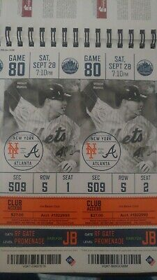 September 9/28 NEW YORK METS 1- Unused TICKET STUB PETE ALONSO RECORD HR 53rd