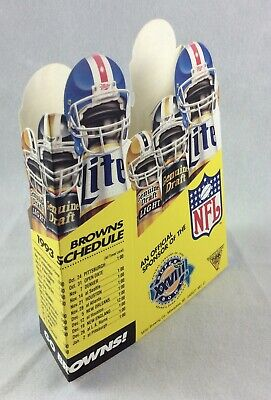 NFL 1993 Monday Night Football & Cleveland Browns Table Schedule - Miller Beer