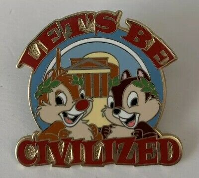 Adventures by Disney - Viva Italia - Lets Be Civilized - Chip & Dale Pin