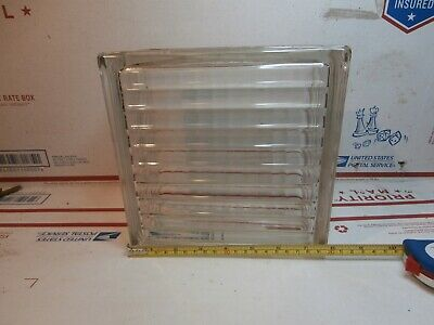"Vintage Glass Block, Clear, Ribbed Pattern (7.75"" x 7.75"" x 3.875"")"