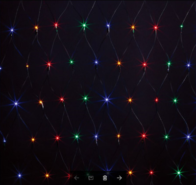 300LED Multi colored Solar Net Christmas Lights Size 3M x 3M