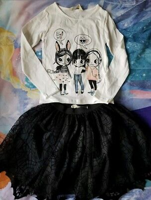 🌟Girls H&M  Outfit 2Pc Set Top Tutu Skirt 4-6Y🌟