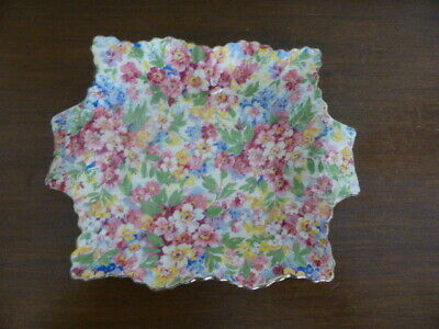 Vintage dish by James Kent – all over chintz -apple blossom