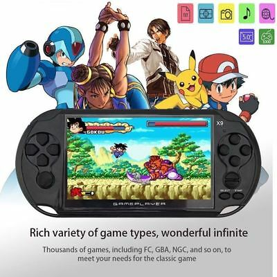 "5"" X9 Portable Handheld Video Game Console 3.0MP Mp3 Player 32bit 8GB Kids Gift"