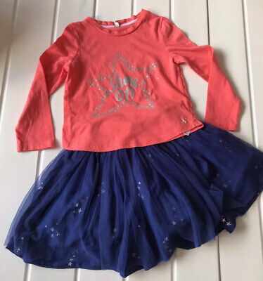 Girls Joules 3-4 Years Tutu Skirt &  Silver Star Detail Long sleeve Top Party