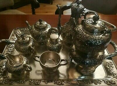 Arthur And Bond Yokohama Sterling Silver Tea Set from 1900