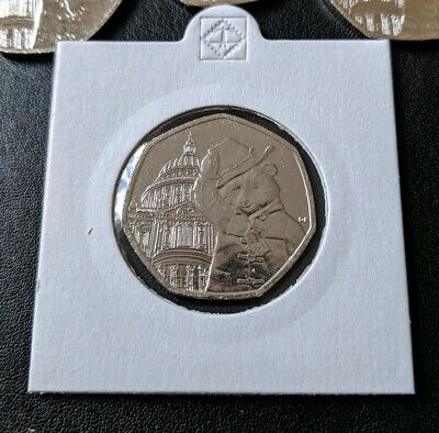 2019 Uncirculated Paddington Bear At St Pauls Cathedral 50P Coin Rare From Bag