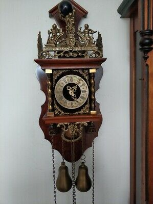 Dutch WUBA Warmink ZAANSE ZAANDAM Wall Pendulum Clock