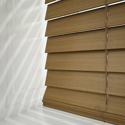 Oak Wood Venetian Blinds - Ready Made With 50Mm Slats Solid Wood & Easy Fit