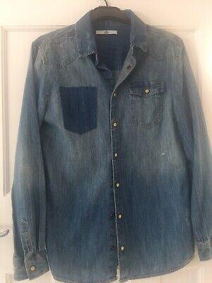 Marks & Spencer Boys Long Sleeve Denim Shirt Age 12