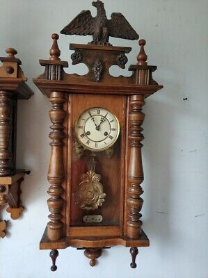 Antique Small Junghans Wall Clock with an Eagle - Regulator Clock 1908 (B08)