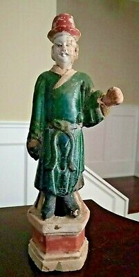 Large Ming Dynasty Glazed Tomb Figure - CHINA - Circa 1368 to 1644