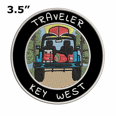 """Key West, Florida Traveler! 3.5"""" Embroidered Iron/Sew-on Patch Souvenir"""