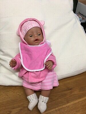 ZAPF CREATION BABY BORN DOLL In Pink Clothes
