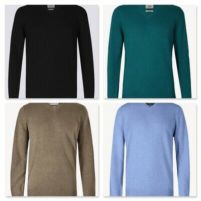M&S Collection Pure Cotton V-Neck Men's Jumper / Sweater RRP £19.50