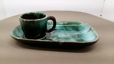 Blue Mountain Pottery Snack Set Early peice