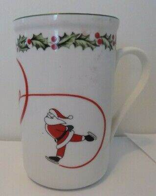 International Silver Company Ice Skating Santa Joy Snowman 16 oz. Christmas Tall