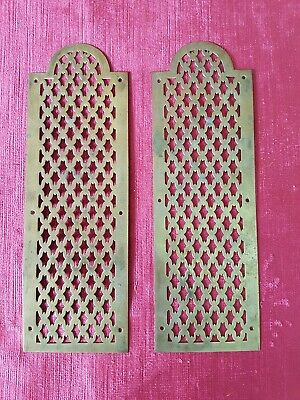 Charming Pair Of Antique French Ormolu Brass Door Finger Plates