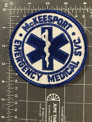 McKeesport Emergency Medical Service Patch EMS EMT SVC Ambulance Pennsylvania PA
