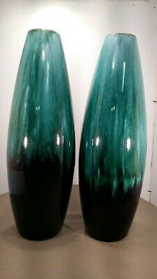 Blue Mountain Pottery - Pair of Vases Mold# 136 w/3 tree stamp