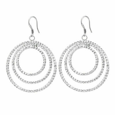 Women Earring wedding Jewelry elegant charm Fashion Silver Bohemia circle