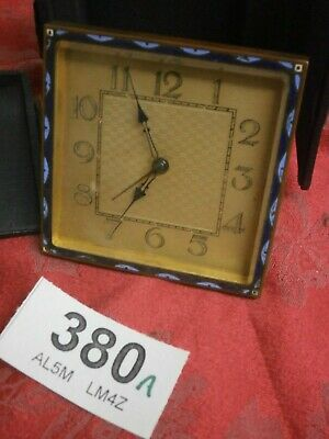Carriage Clock Mantle dial arabic Enamel Inlayed & Travel Box part movement 380A