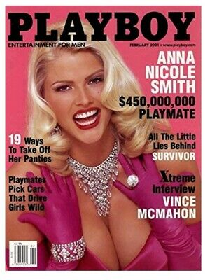 Playboy February 2001 Anna Nicole Smith NEW IN SEALED MAILING BAG