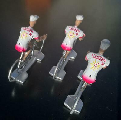 3 cyclistes miniatures Tour de france - Cycling figure - Cofidis 2019