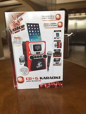 """""""The Voice"""" Karaoke w/ Screen & Microphone/New and unopened in Box"""