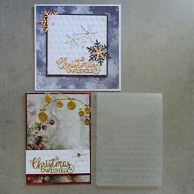 central craft EMBOSSING FOLDER A2 CHRISTMAS SNOWFLAKES SNOW FLOWER CCC-4016