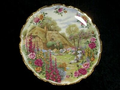 Royal Albert Tranquil Garden Collectable 30th Anniversary Plate Old Country Rose