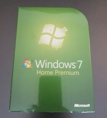 Microsoft Windows 7 Home Premium Retail Genuine Full GFC-00019 NEW 32/64-Bit