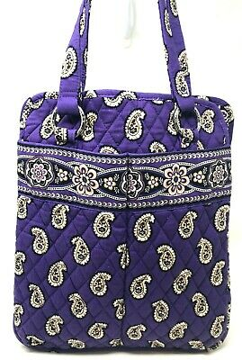 VERA BRADLEY Perfect Pocket Tote Bag In Simply Violet Purple White Retired