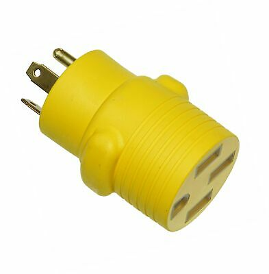 30-Amp Female to 50-Amp Male Arcon 14018 Round Generator Power Adapter