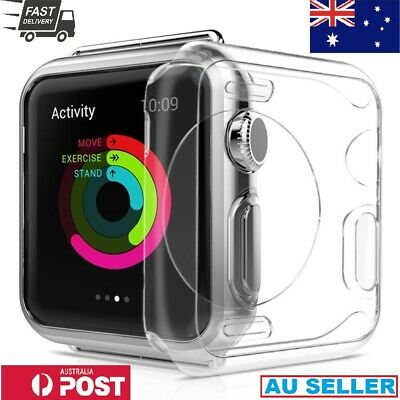 Watch TPU Clear Ultra Thin full Cover Face Case Screen Protection Soft 38mm/42mm