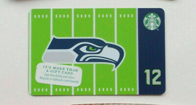Starbucks Card 2016 SEATTLE SEAHAWKS Ltd Edn w/ NFL Hologram - NEW Unused