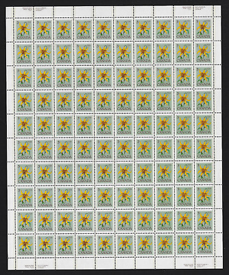 Canada Stamps — Full Pane of 100 — 1979, Floral: Canada Lily #708 (+708i) — MNH