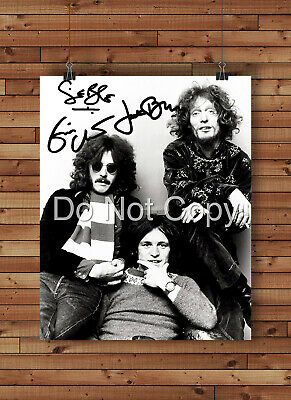 Cream Ginger Baker Signed Autographed Reprint 8x10 Photo Poster