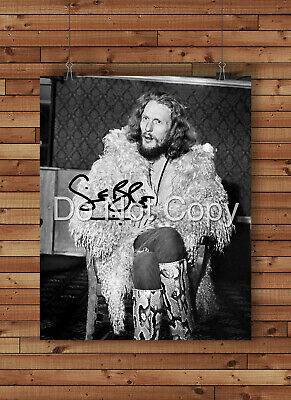 Ginger Baker Signed Autographed Reprint 8x10 Photo Poster Print Cream Drummer