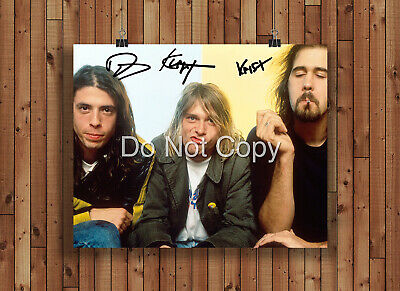 Nirvana Signed Autographed Reprint 8x10 Photo Poster Print Nirvana Band