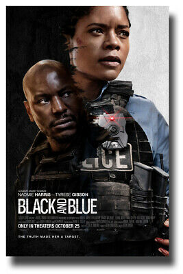 "Black and Blue Poster 2019 Movie - 11""x17"" Tyrese Gibson SameDay Ship from USA"