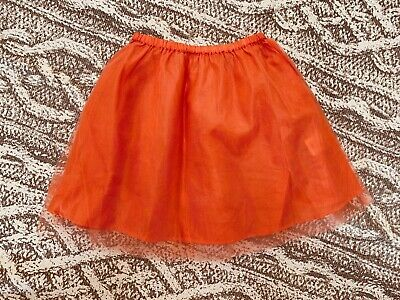 Mini Boden Girls Orange Tulle Skirt - Size 5T - Holidays - Thanksgiving - EUC