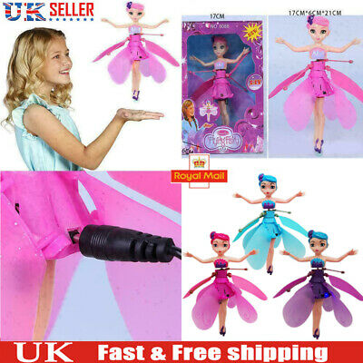 Kids Flying Fairy Princess Dolls Magic Xmas Gift Infrared Induction Control Toy