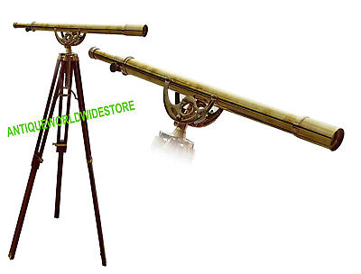 Vintage Design Nautical Telescope With Tripod Stand Watching Brass Spyglass Item